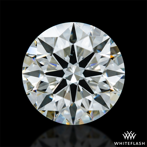 0.876 ct J VS1 A CUT ABOVE® Hearts and Arrows Super Ideal Round Cut Loose Diamond