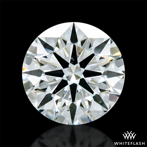 0.737 ct J SI1 A CUT ABOVE® Hearts and Arrows Super Ideal Round Cut Loose Diamond