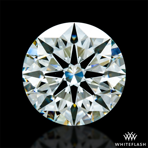 0.844 ct J SI1 A CUT ABOVE® Hearts and Arrows Super Ideal Round Cut Loose Diamond