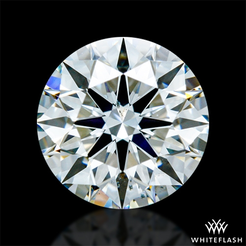 0.84 ct I SI1 A CUT ABOVE® Hearts and Arrows Super Ideal Round Cut Loose Diamond