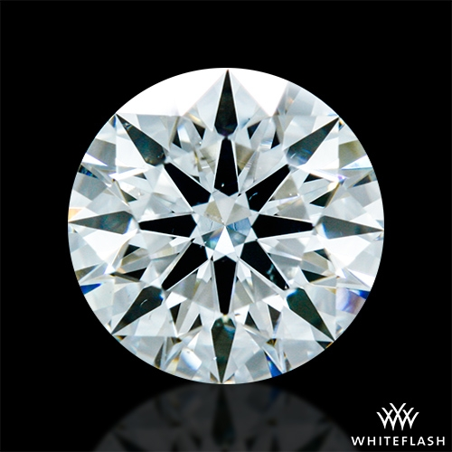 0.838 ct H SI1 A CUT ABOVE® Hearts and Arrows Super Ideal Round Cut Loose Diamond