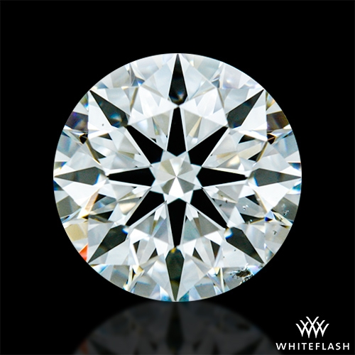 1.417 ct H SI1 A CUT ABOVE® Hearts and Arrows Super Ideal Round Cut Loose Diamond