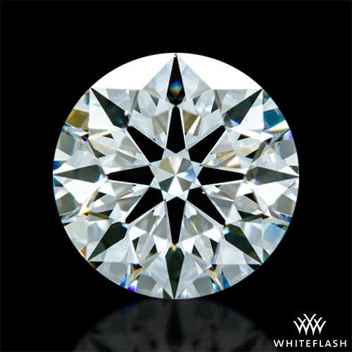 0.841 ct H VS1 A CUT ABOVE® Hearts and Arrows Super Ideal Round Cut Loose Diamond