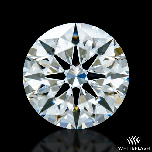 0.876 ct F VS1 A CUT ABOVE® Hearts and Arrows Super Ideal Round Cut Loose Diamond