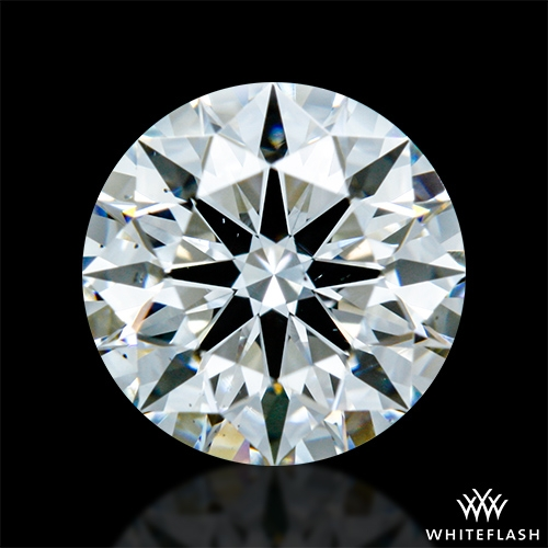 0.841 ct F VS2 A CUT ABOVE® Hearts and Arrows Super Ideal Round Cut Loose Diamond