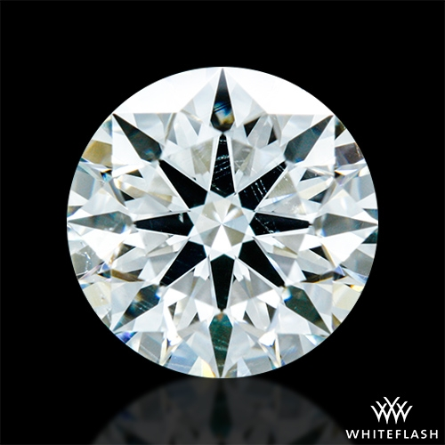 0.854 ct H SI1 A CUT ABOVE® Hearts and Arrows Super Ideal Round Cut Loose Diamond