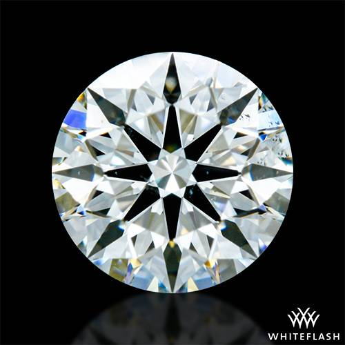 0.743 ct H SI1 A CUT ABOVE® Hearts and Arrows Super Ideal Round Cut Loose Diamond