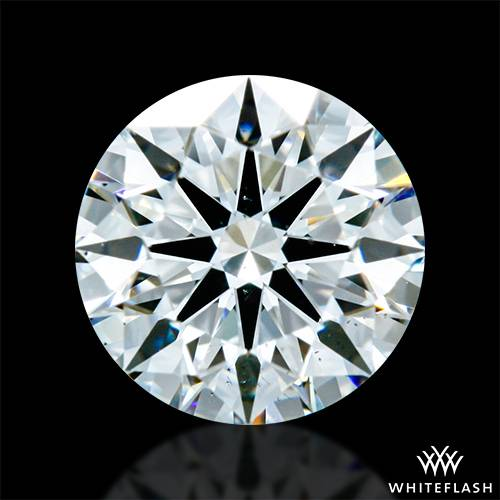 0.697 ct F SI1 A CUT ABOVE® Hearts and Arrows Super Ideal Round Cut Loose Diamond