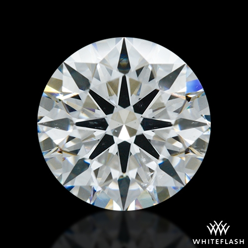 1.537 ct F SI1 A CUT ABOVE® Hearts and Arrows Super Ideal Round Cut Loose Diamond