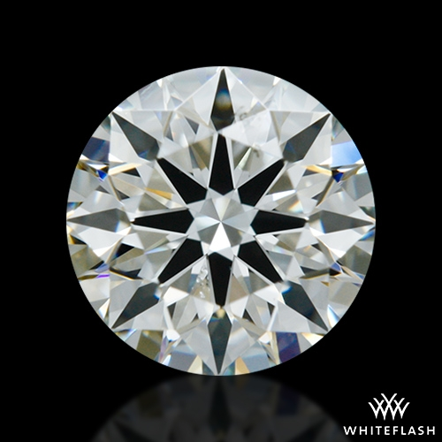 0.852 ct I SI1 A CUT ABOVE® Hearts and Arrows Super Ideal Round Cut Loose Diamond
