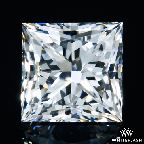 0.503 ct E VVS2 A CUT ABOVE® Princess Super Ideal Cut Diamond