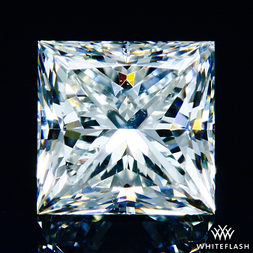 0.916 ct H SI2 A CUT ABOVE® Princess Super Ideal Cut Diamond