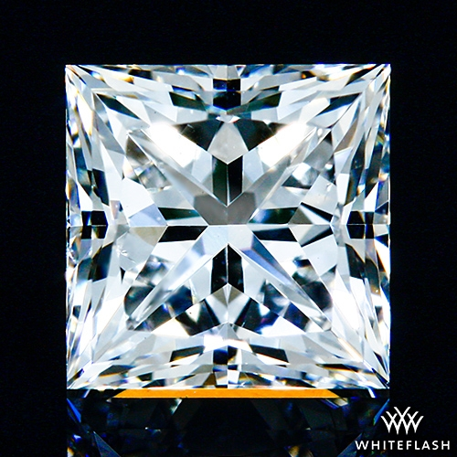 0.788 ct E VS2 A CUT ABOVE® Princess Super Ideal Cut Diamond