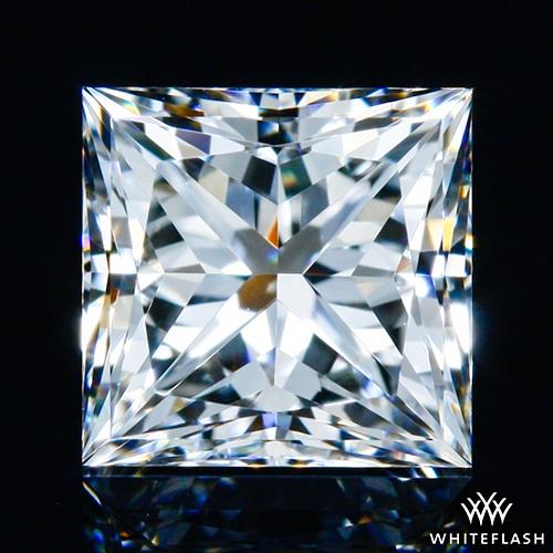 0.76 ct F VVS2 A CUT ABOVE® Princess Super Ideal Cut Diamond
