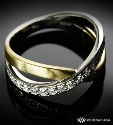Criss Cross Diamond Wedding Band 9004