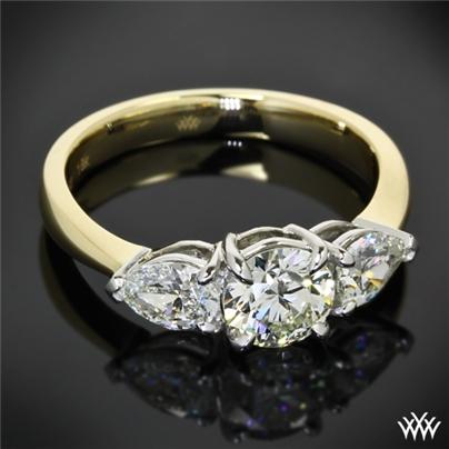 Custom 3 Stone Diamond Engagement Ring 11703
