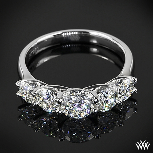 Custom 5 Stone Diamond Engagement Ring 34401