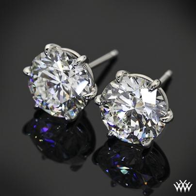 Custom 6 Prong Martini Diamond Earrings 12907