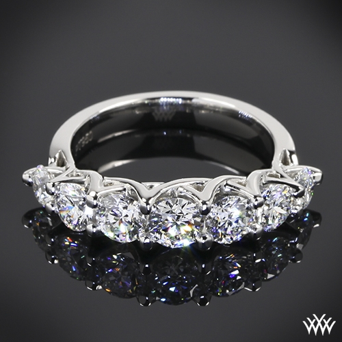 Custom 7 Stone Trellis Diamond Wedding Ring 35804