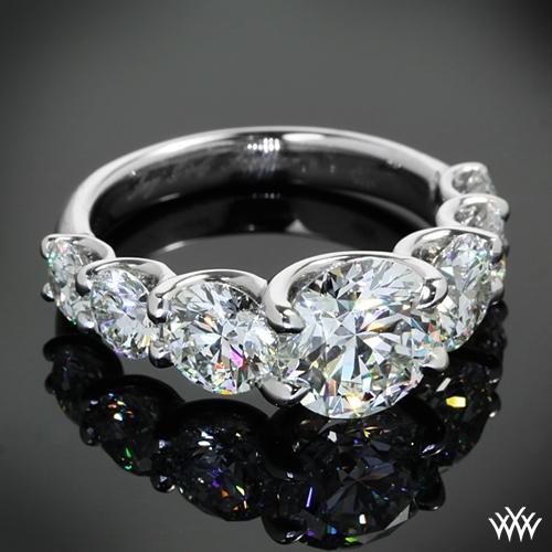 Custom 7 Stone Uprong Diamond Engagement Ring  25101. Original Wedding Rings. Offbeat Wedding Rings. Inset Diamond Engagement Rings. Expensive Wedding Rings. Boy's Engagement Rings. Bespoke Engagement Rings. 19k Wedding Rings. Light Yellow Engagement Rings