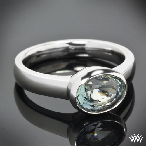 View Full Gallery Of Unique Engagement Rings Wedding Rings: Custom Full Bezel Solitaire Engagement Ring