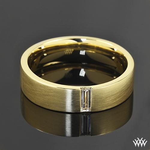 Custom Mens Diamond Wedding Ring