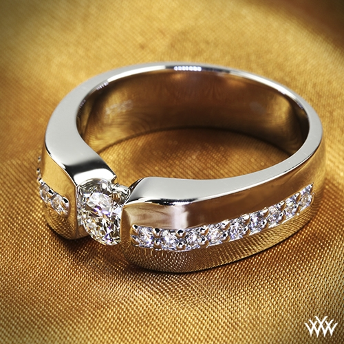 Custom Men S Diamond Wedding Ring 34604