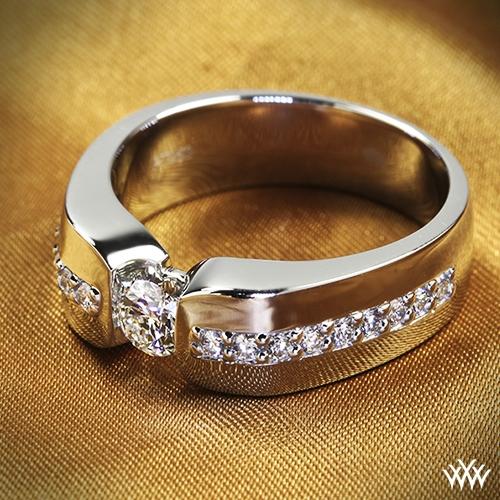 Custom Men's Diamond Wedding Ring