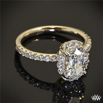 custom oval halo engagement ring 37301