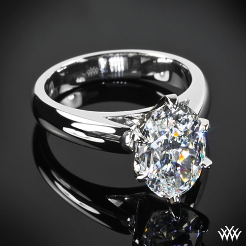 Oval Diamond Solitaire Oval Cathedral Solitaire
