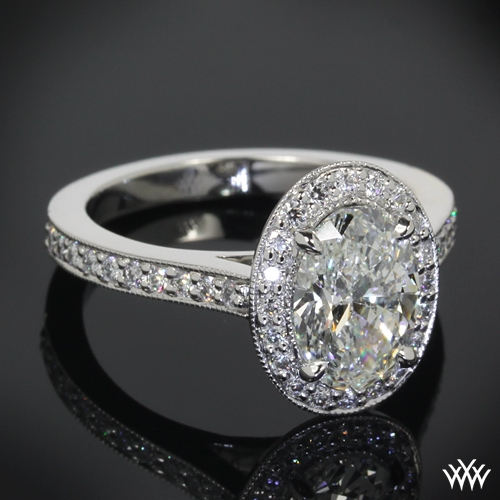 oval halo engagement ring 26301