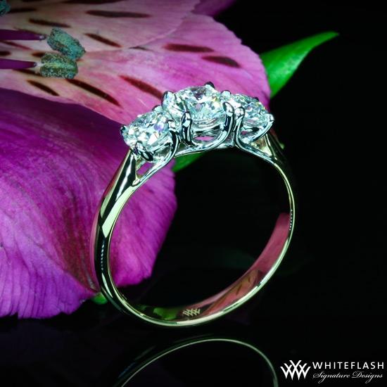 Three Stone Trellis Engagement Ring 8403