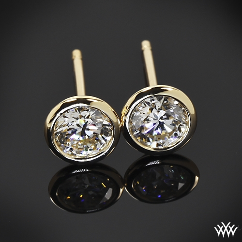 1 00ctw Handmade Full Bezel Diamond Earrings