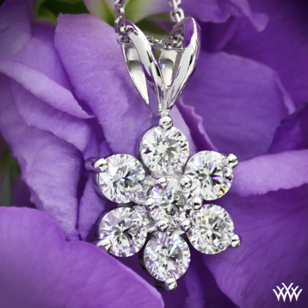Sparkly Diamond Flower Pendant