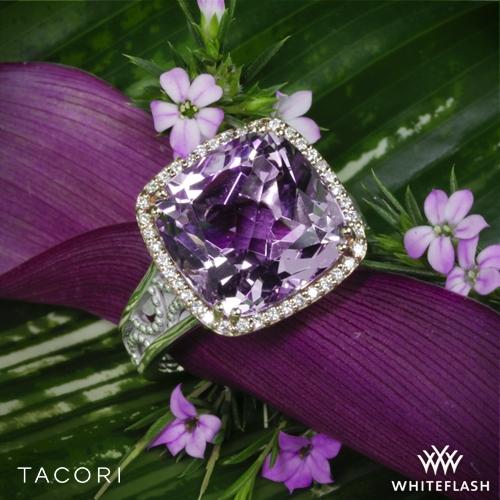 Tacori SR100P13 Blushing Rose Amethyst and Diamond Ring