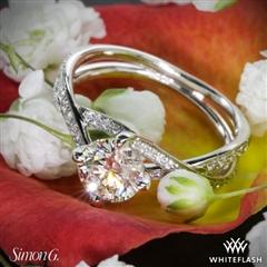 Whiteflash Diamond with  Simon G Setting