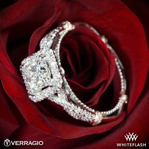 Verragio DL-106P Twisted Princess Diamond Engagement Ring