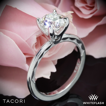 Tacori 40-1.5RD Sculpted Crescent Millgrain Solitaire Engagement Ring