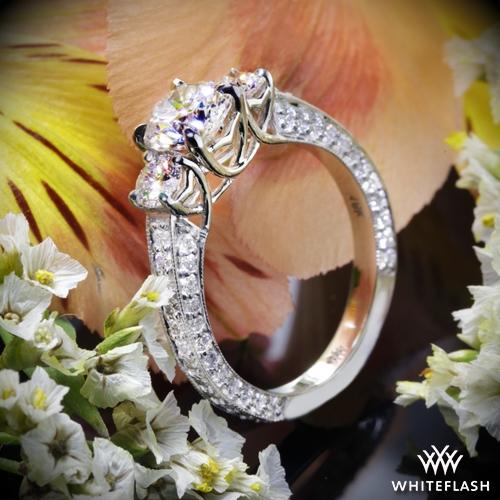 Coeur de Clara Ashley 3 Stone Engagement Ring