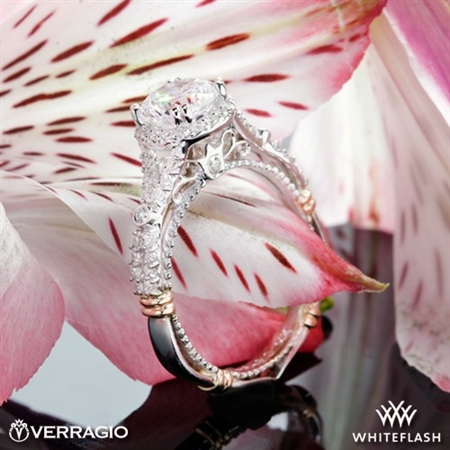 Verragio Parisian D-109R Twisted Split Shank Diamond Engagement Ring