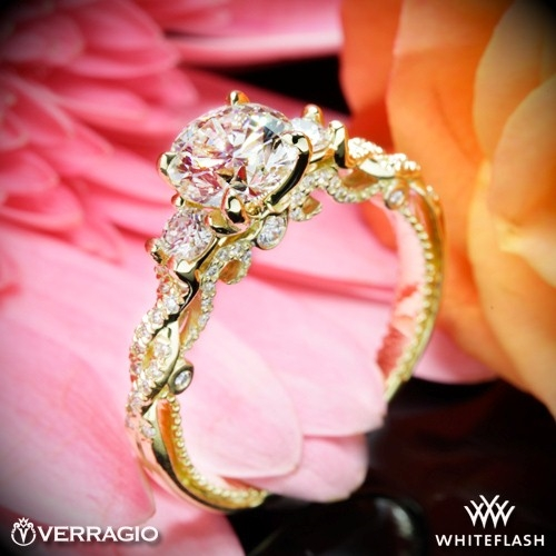 Verragio INS-7074R Braided 3 Stone Engagement Ring