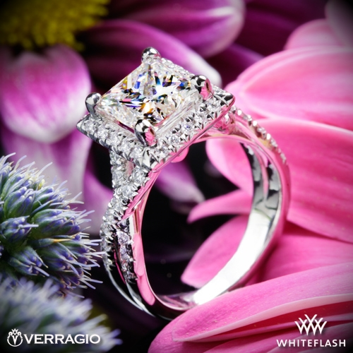 Verragio ENG-0379 Square Halo Diamond Engagement Ring