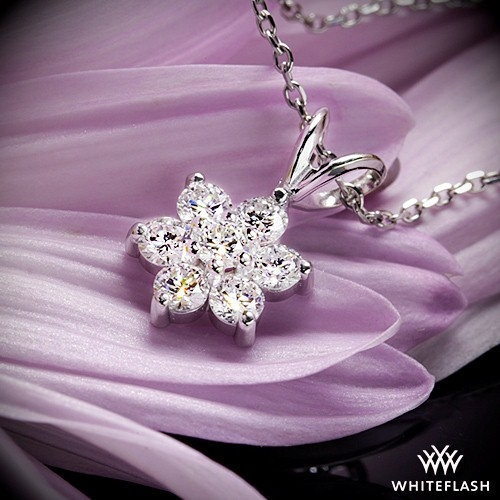 Flower cluster diamond pendant 691 flower cluster diamond pendant aloadofball Images