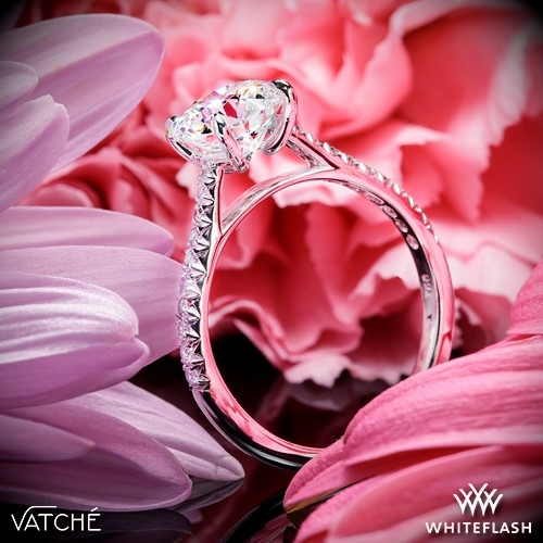 Vatche 1544 Mia Pave Diamond Engagement Ring