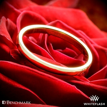Benchmark Half Round Wedding Ring