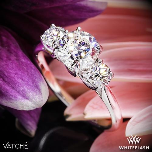 Vatche 319 X-Prong Three Stone Engagement Ring