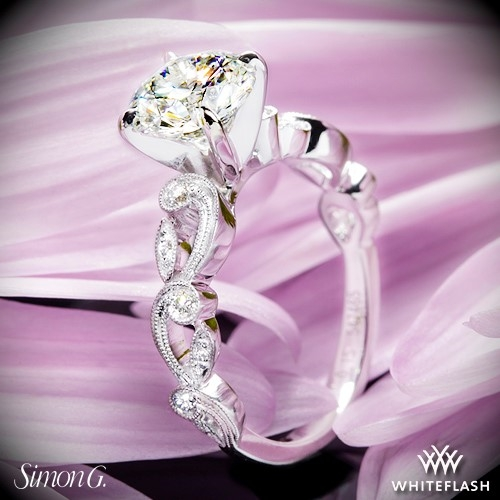 Simon G. TR473 Duchess Diamond Engagement Ring