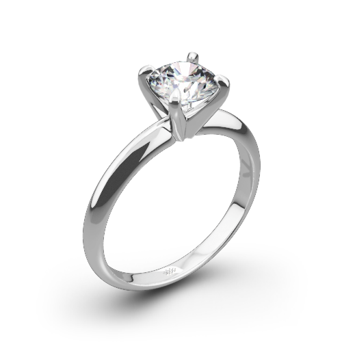 4-Prong Classic Diamond Solitaire