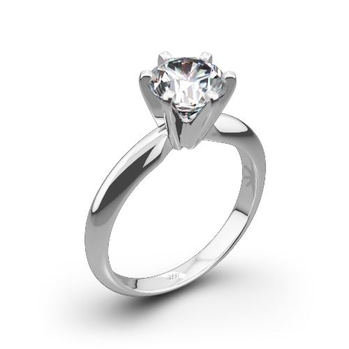 picture solitaire diamond classic of carat ring platinum