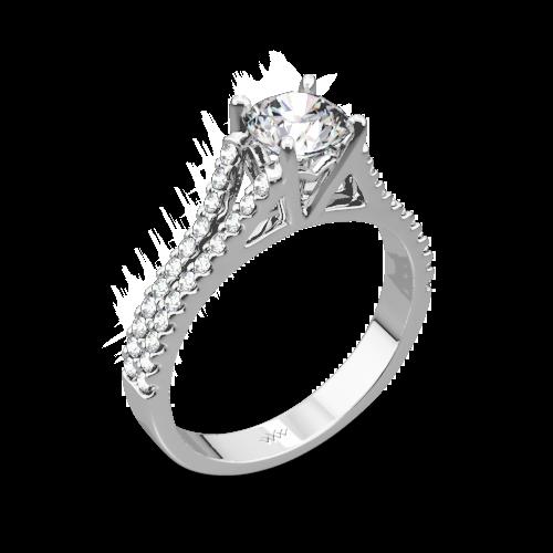 Allegro in D Diamond Engagement Ring
